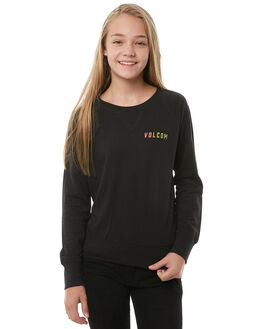 BLACK KIDS GIRLS VOLCOM JUMPERS - B31118Y1BLK