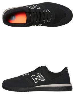 BLACK BLACK MENS FOOTWEAR NEW BALANCE SKATE SHOES - NM420BBB