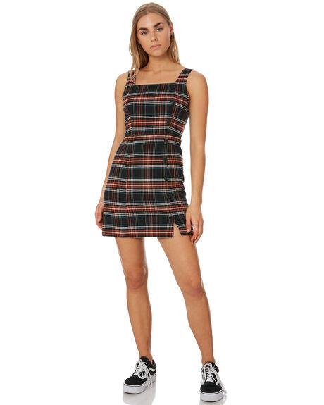 PLAID OUTLET WOMENS VOLCOM DRESSES - B1341909PLD