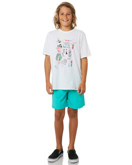 WHITE KIDS BOYS HURLEY TOPS - CD0677100