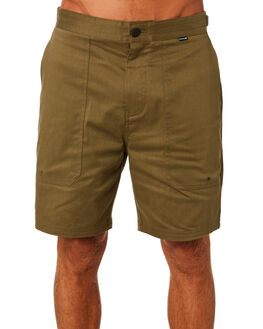 OLIVE CANVAS MENS CLOTHING HURLEY SHORTS - AT4169395