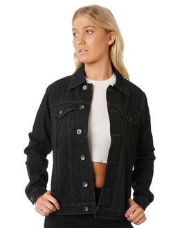 VINTAGE BLACK WOMENS CLOTHING RUSTY JACKETS - JKL0367VBL