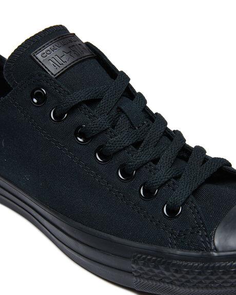 BLACK MONOCHROME MENS FOOTWEAR CONVERSE SNEAKERS - 15039BLKMO
