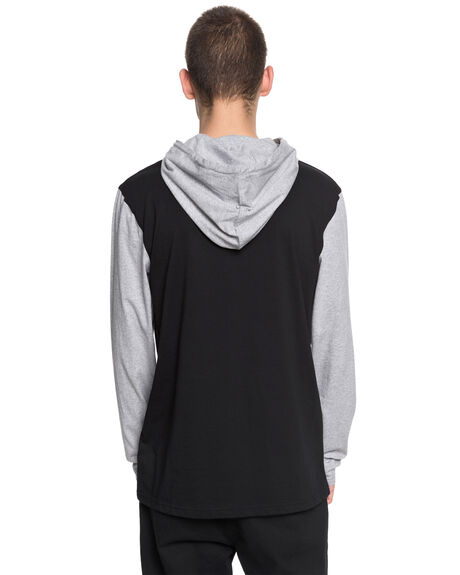 BLACK MENS CLOTHING DC SHOES JUMPERS - EDYKT03391KVJ0