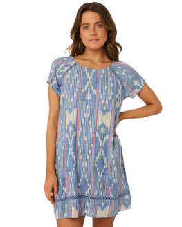 BLUE WHITE WOMENS CLOTHING RIP CURL DRESSES - GDRFW11651