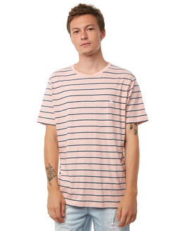 PINK STRIPE MENS CLOTHING BARNEY COOLS TEES - 108-CR1PSTRP