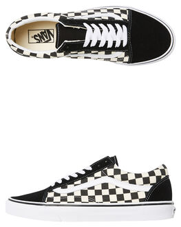 BLACK WHITE CHECKERBOARD WOMENS FOOTWEAR VANS SNEAKERS - SSVNA38G1P0SCHCKW