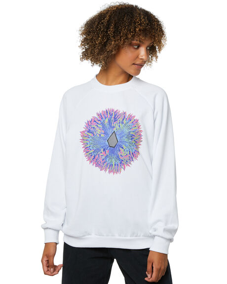 WHITE WOMENS CLOTHING VOLCOM JUMPERS - B4612102WHT