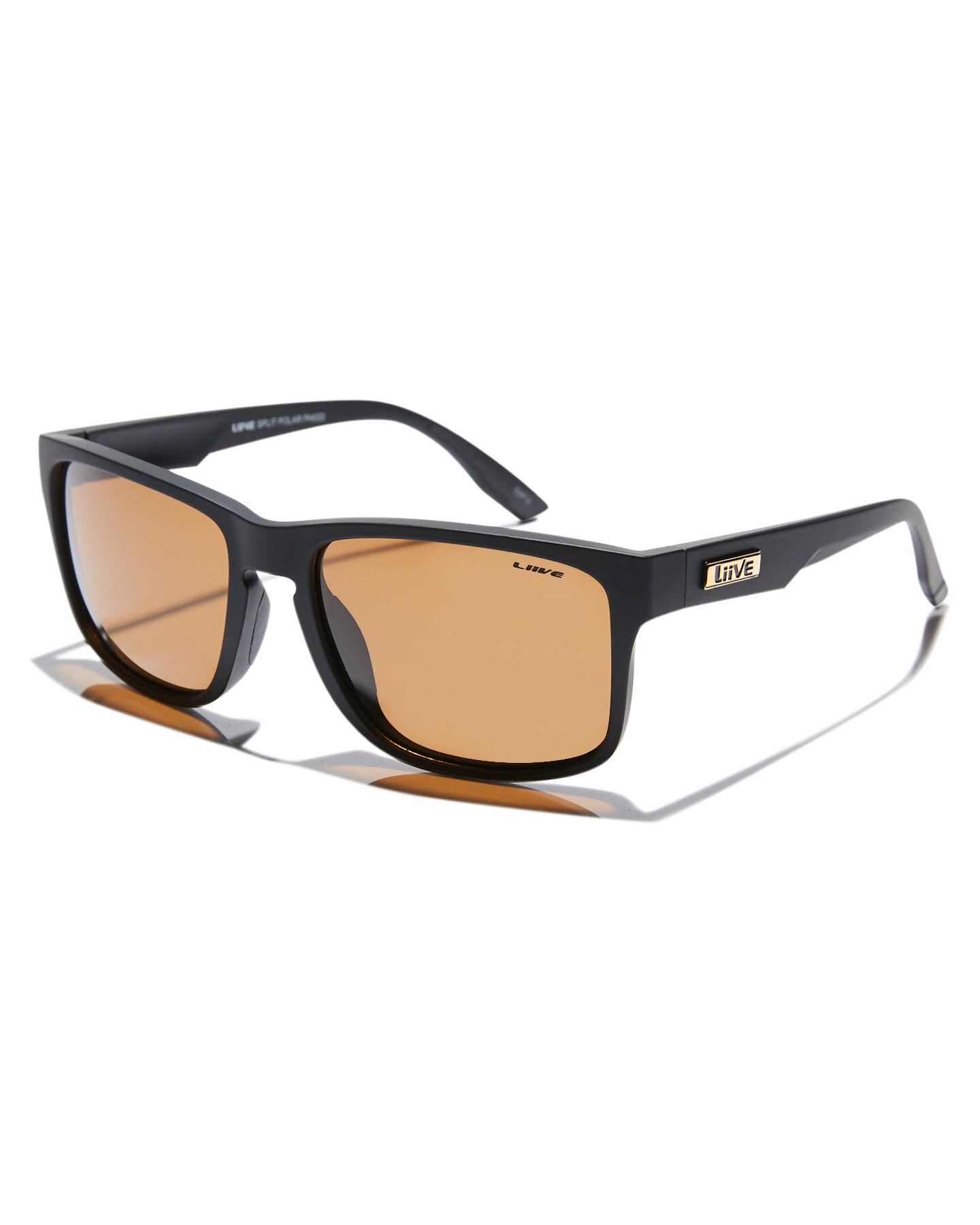 Liive Vision NEW Stamos Polar Matte Black Sunnies Mad Hueys Sunglasses