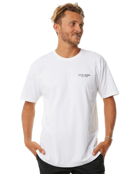 WHITE MENS CLOTHING 5BORO TEES - LOVFIGHTWHT