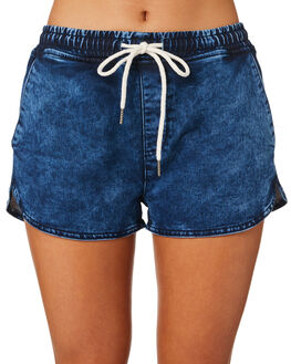 BLUE WOMENS CLOTHING SILENT THEORY SHORTS - 6015009BLU