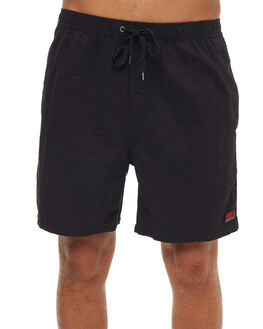 BLACK MENS CLOTHING RUSTY SHORTS - WKM0907BLK