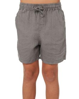 CHARCOAL KIDS BOYS ACADEMY BRAND SHORTS - B19S609CHAR