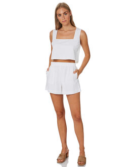 WHITE WOMENS CLOTHING NUDE LUCY FASHION TOPS - NU23808WHITE