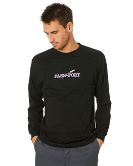 BLACK MENS CLOTHING PASS PORT TEES - PPLAVLSTEEBLK