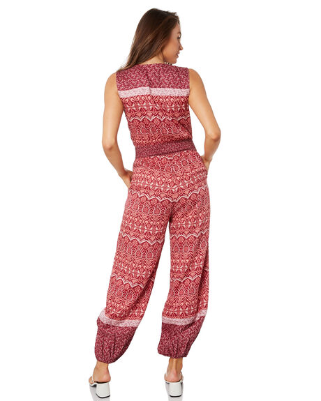BURGUNDY WOMENS CLOTHING TIGERLILY PLAYSUITS + OVERALLS - T305455BUR