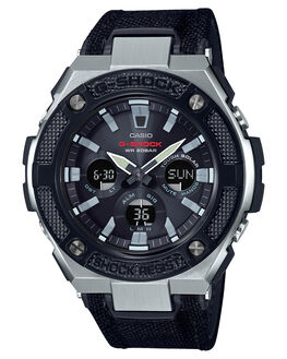 BLACK SILVER MENS ACCESSORIES G SHOCK WATCHES - GSTS330AC-1ABLKSI