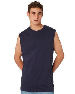 NAVY MENS CLOTHING BILLABONG SINGLETS - 9572509NVY