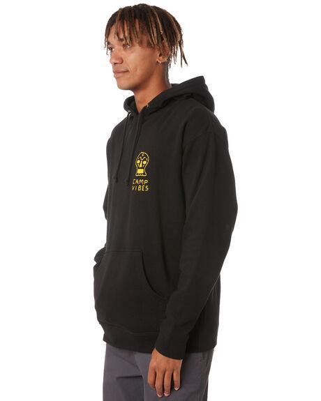 BLACK MENS CLOTHING POLER HOODIES + SWEATS - 213APM2603-BLK