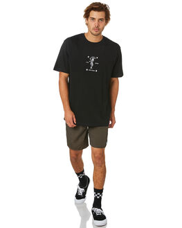 BLACK MENS CLOTHING TOWN AND COUNTRY TEES - TTE516BBLK
