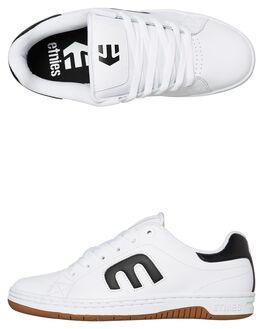 WHITE BLACK MENS FOOTWEAR ETNIES SNEAKERS - 4101000505115