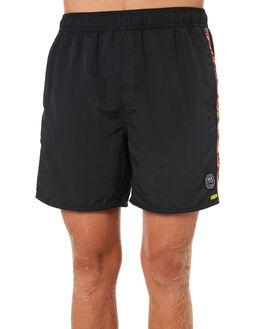 RVCA BLACK MENS CLOTHING RVCA BOARDSHORTS - R181313BLK