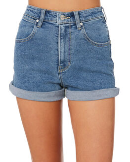 SALTY BLUE WOMENS CLOTHING WRANGLER SHORTS - W-951280-IW5