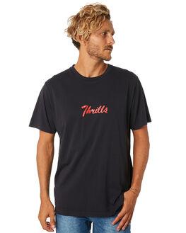 HERITAGE BLACK MENS CLOTHING THRILLS TEES - TA9-123VBHEBLK
