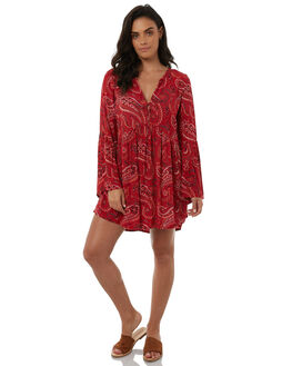 ARIZONA RED WOMENS CLOTHING TIGERLILY DRESSES - T385410ARIZR