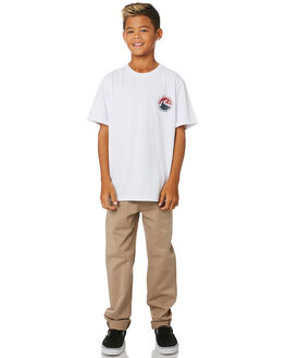 WHITE KIDS BOYS RUSTY TOPS - TTB0645WHT