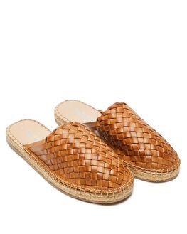 TAN WOMENS FOOTWEAR HUMAN FOOTWEAR SLIDES - COLETTETAN
