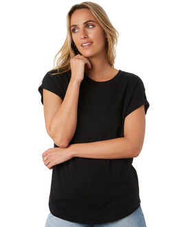 BLACK WOMENS CLOTHING RIP CURL TEES - GTENZ10090