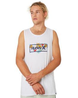 WHITE MENS CLOTHING HURLEY SINGLETS - CK1679100