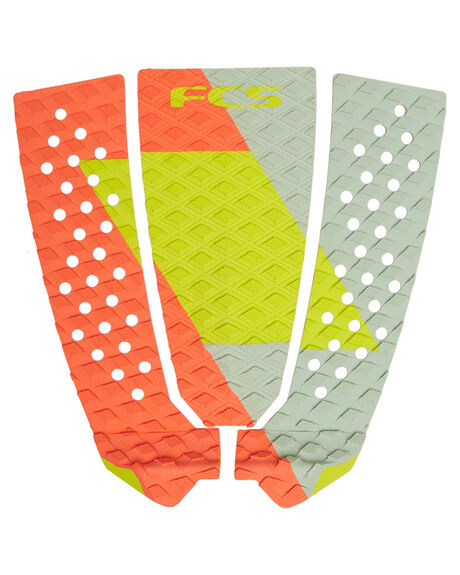 RED LIME SLATE BOARDSPORTS SURF FCS TAILPADS - 27716RLS