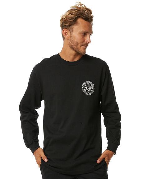 BLACK MENS CLOTHING 5BORO TEES - SPECLISSBLK