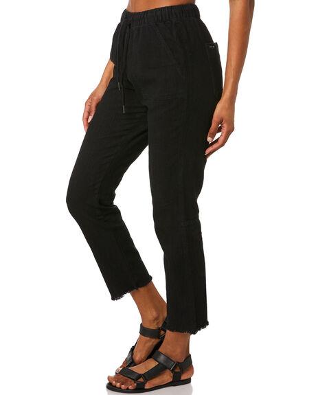 BLACK WOMENS CLOTHING RUSTY PANTS - PAL0994BLK