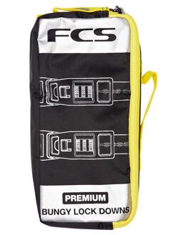 BLACK YELLOW SURF ACCESSORIES FCS BOARD RACKS - 1905-550-00D