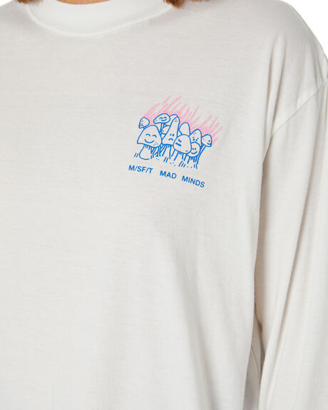 WASHED WHITE WOMENS CLOTHING MISFIT TEES - MT115006WWHT