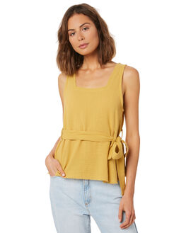 YELLOW WOMENS CLOTHING RUE STIIC FASHION TOPS - WS18-24-Y-CPYEL