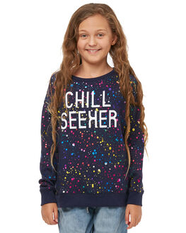 NAVY MARLE KIDS GIRLS EVES SISTER JUMPERS - 9910007NVY