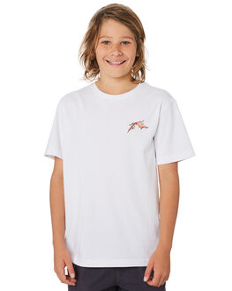 WHITE KIDS BOYS RUSTY TOPS - TTB0633WHT