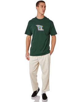 FOREST GREEN MENS CLOTHING POLAR SKATE CO. TEES - PUFFTEEFGRN