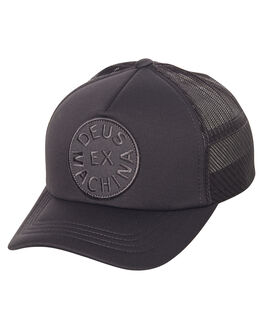 DARK GREY MENS ACCESSORIES DEUS EX MACHINA HEADWEAR - DMS77002BLK