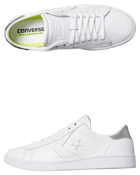 ac8534e9b78a Converse Womens Pro Leather Lp Sneaker - White Silver