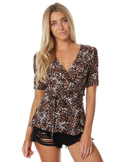 WILD CAT WOMENS CLOTHING AUGUSTE FASHION TOPS - AUG-HN2-17160-WC