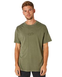 ARMY GREEN MENS CLOTHING THRILLS TEES - TS8-100FARGRN
