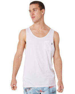WHITE MENS CLOTHING RIP CURL SINGLETS - CTETA21000
