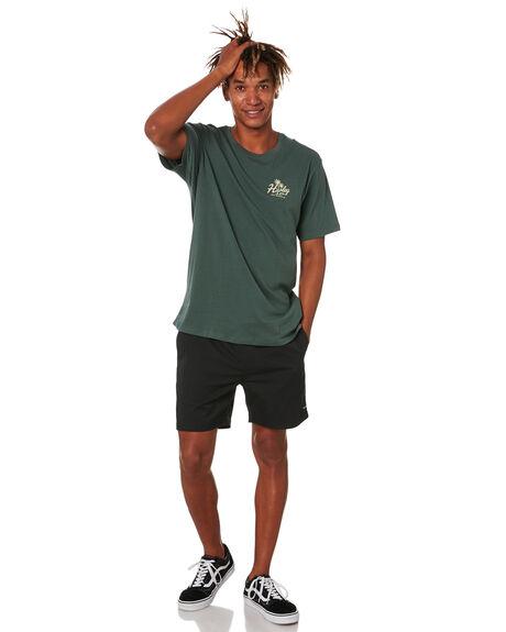 VINTAGE GREEN MENS CLOTHING HURLEY TEES - CW5714345
