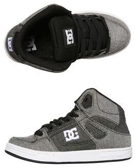 GREY WHITE GREY KIDS BOYS DC SHOES SKATE SHOES - ADBS100243XSWS
