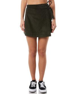 MILITARY GREEN WOMENS CLOTHING RVCA SKIRTS - R283831MIL